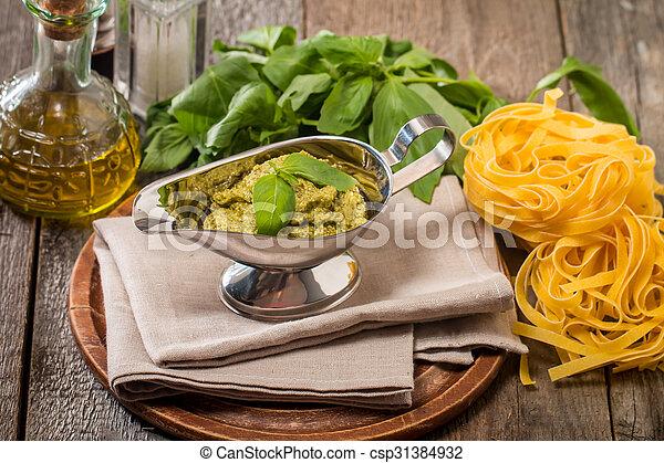 Basil pesto sauce - csp31384932