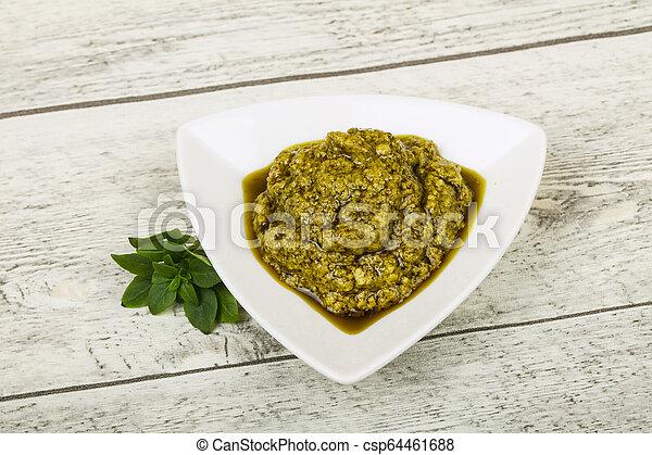 Basil sauce Pesto - csp64461688