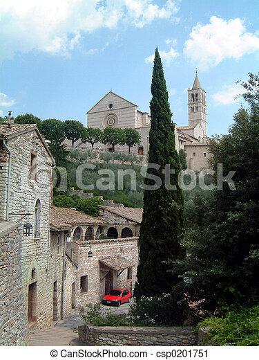 Basilica at Assisi - csp0201751