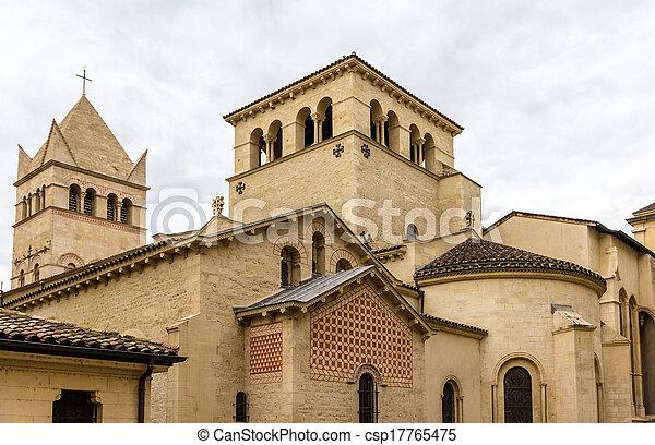Basilica of Saint-Martin d'Ainay, 11th century church in Lyon, France - csp17765475