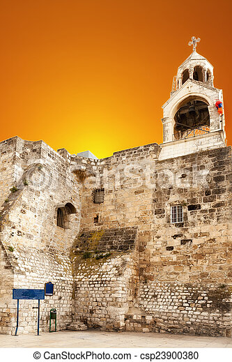 Basilica of the Nativity in Bethlehem - csp23900380