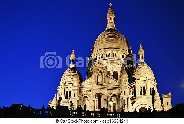 basiliek, heart), coeur, parijs, sacre, (sacred, montmartre - csp16364241
