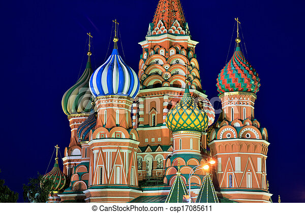 Catedral de Saint Basils, Moscú, Rusia - csp17085611