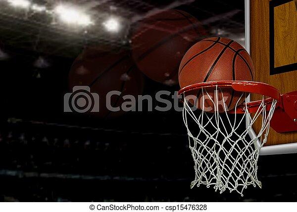 basket-ball, coup - csp15476328