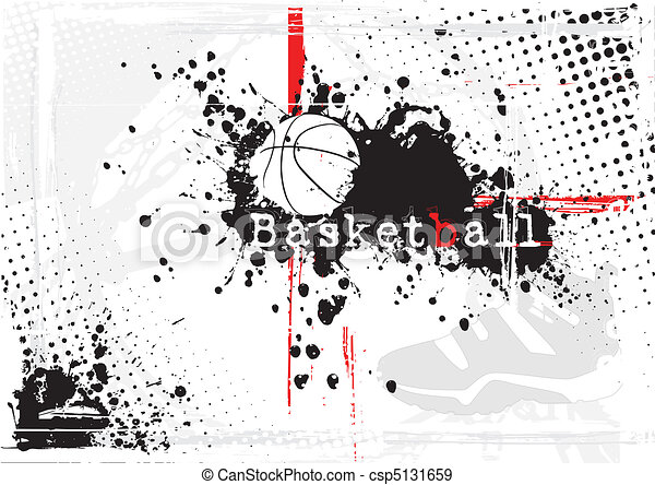 basket-ball, sale, fond - csp5131659