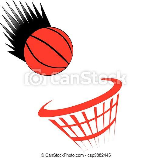 basket ball white - csp3882445