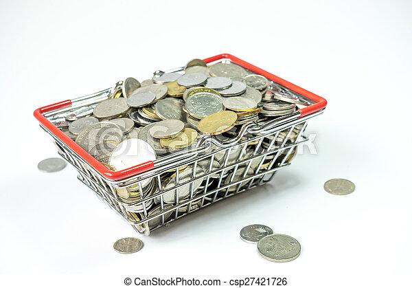 Basket coins - csp27421726