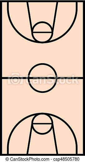 basket court illustration - csp48505780