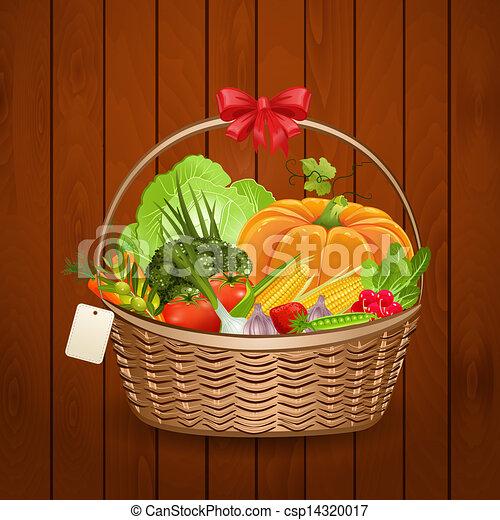 Basket fresh vegetables for your design - csp14320017