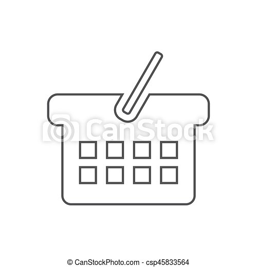 Basket icon illustration - csp45833564