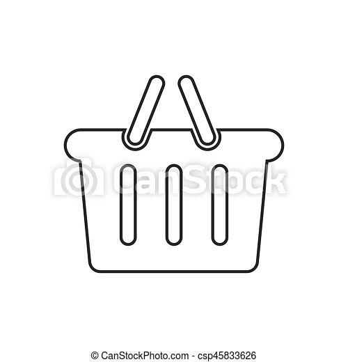 Basket icon illustration - csp45833626
