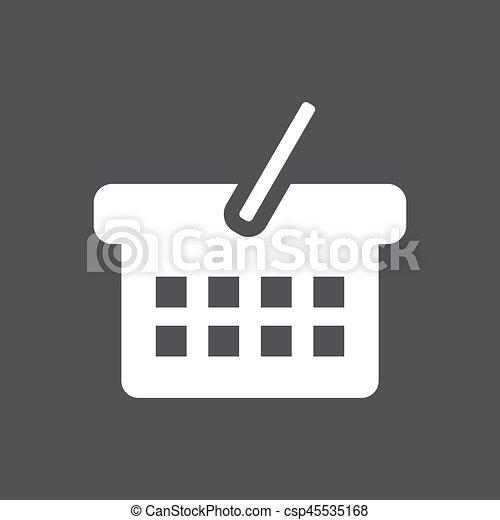 Basket icon vector - csp45535168