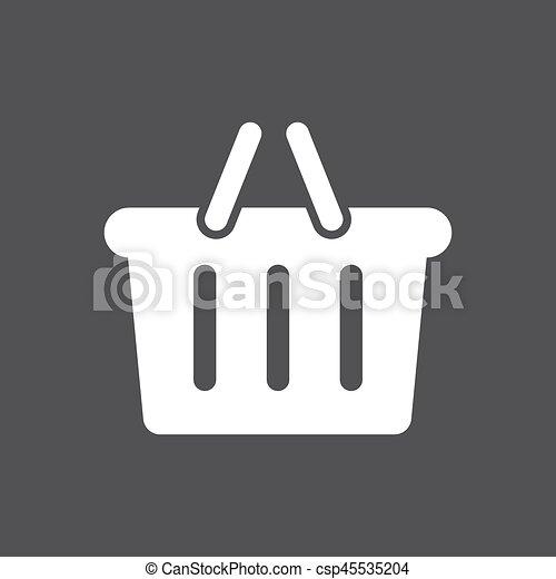 Basket icon vector - csp45535204