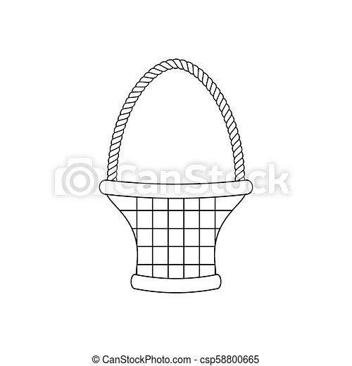 Basket illustration vector - csp58800665
