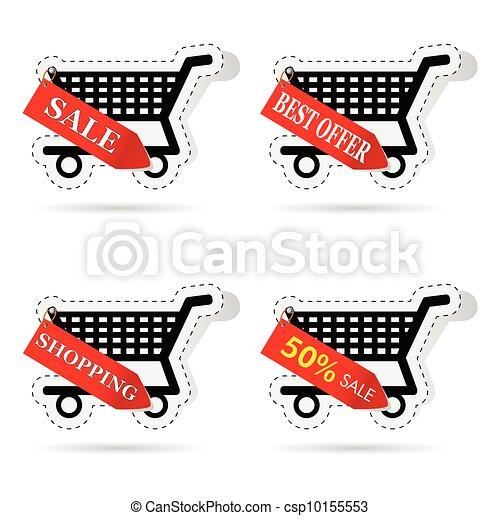basket label vector illustration - csp10155553