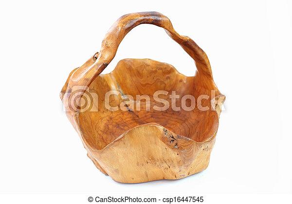 Basket made ??of timber - csp16447545