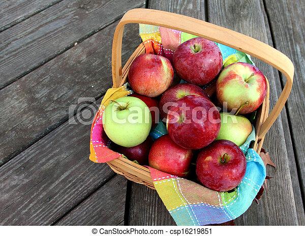 Basket of Apples - csp16219851