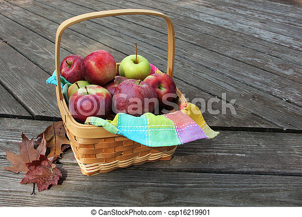 Basket of Apples - csp16219901
