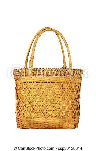 Basket on a white background - csp30128814