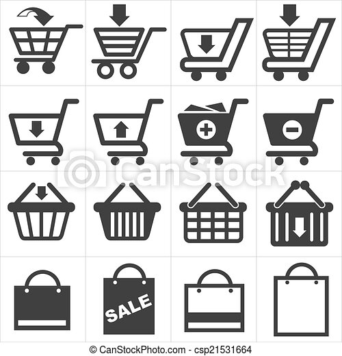 basket shopping icon - csp21531664