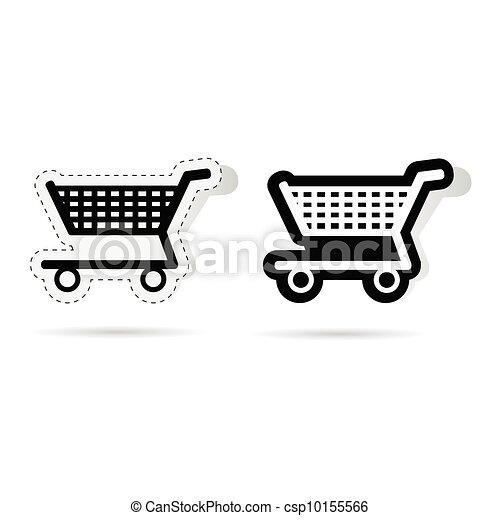 basket sticker vector illustration - csp10155566