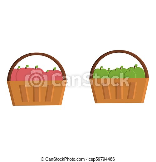 Basket with apples - csp59794486