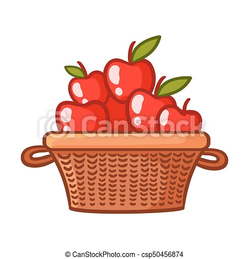 Basket with apples. - csp50456874