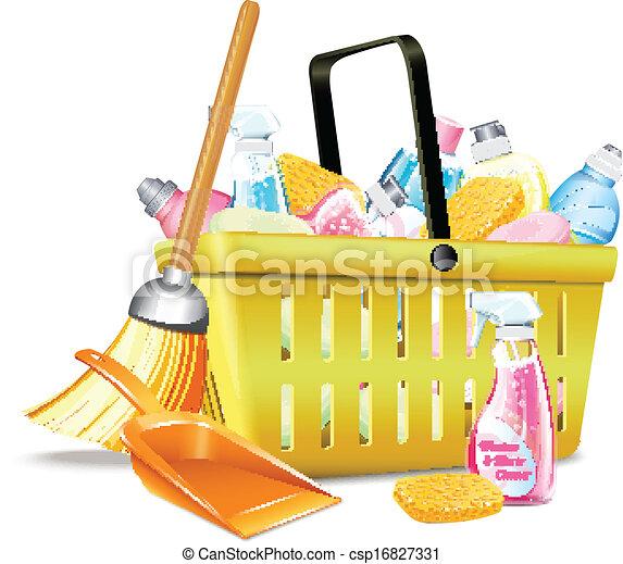 Basket With Detergent2  - csp16827331