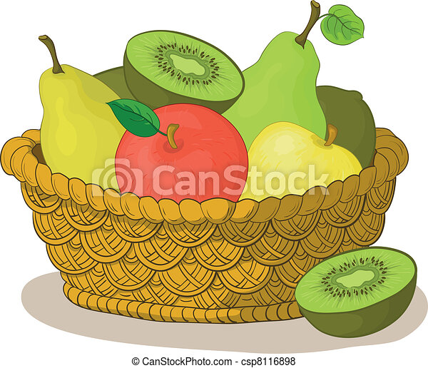 Basket with fruits - csp8116898