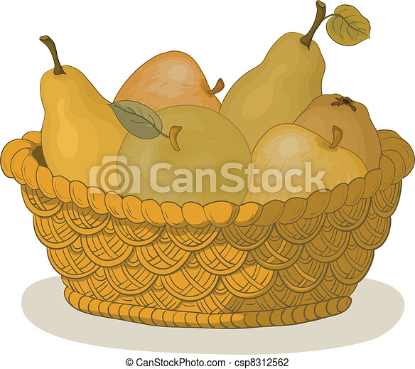 Basket with fruits - csp8312562