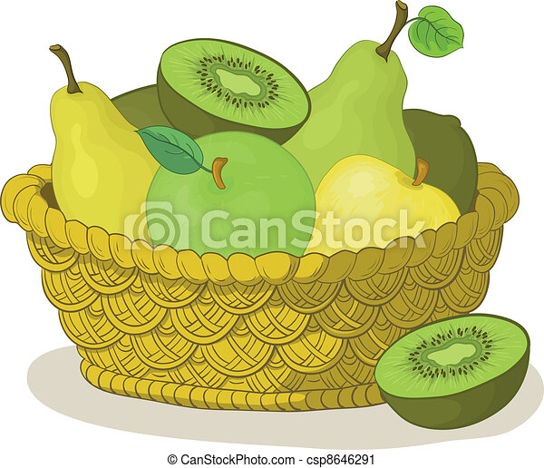 Basket with fruits - csp8646291