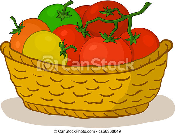 Basket with tomatoes - csp6368849