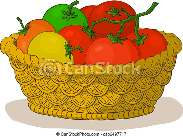 Basket with tomatoes - csp6497717
