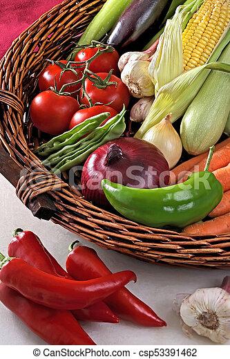 Basket with vegetables. - csp53391462