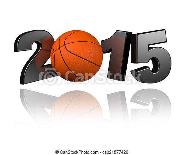 Basketball 2015 design - csp21877420
