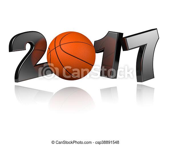 Basketball 2017 design - csp38891548