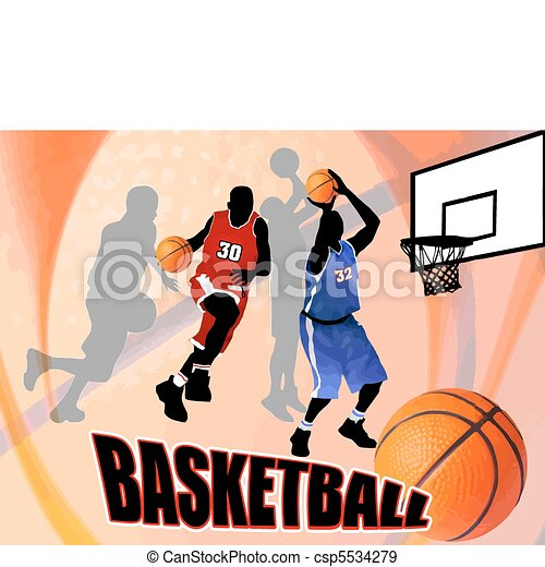 Basketball abstract background - csp5534279
