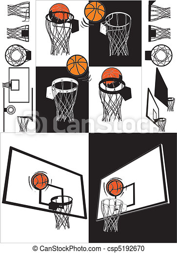 Basketball And Backboard - csp5192670