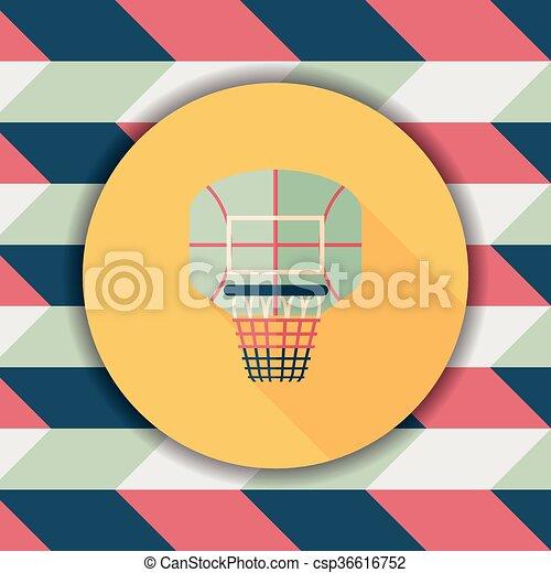 basketball backboard flat icon with long shadow,eps10 - csp36616752