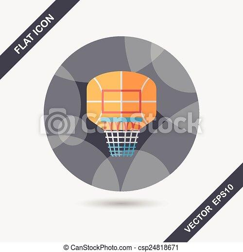 basketball backboard flat icon with long shadow,eps10 - csp24818671