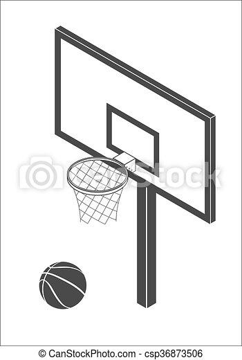 Basketball backboard icon - csp36873506