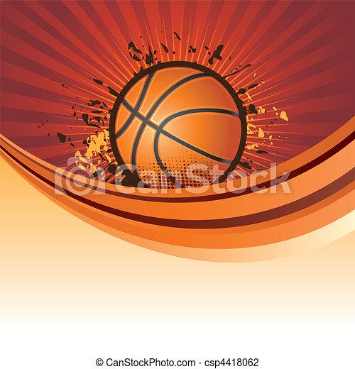 basketball background - csp4418062