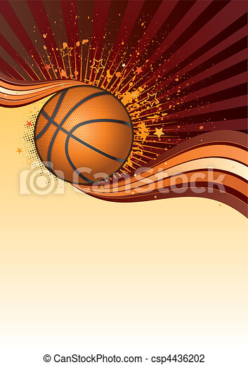 basketball background - csp4436202