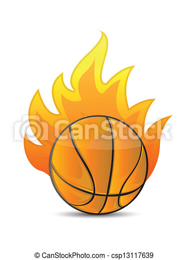 Basketball Ball In Fire Stock Vector Illustration And Royalty Free  Basketball Ball In Fire Clipart