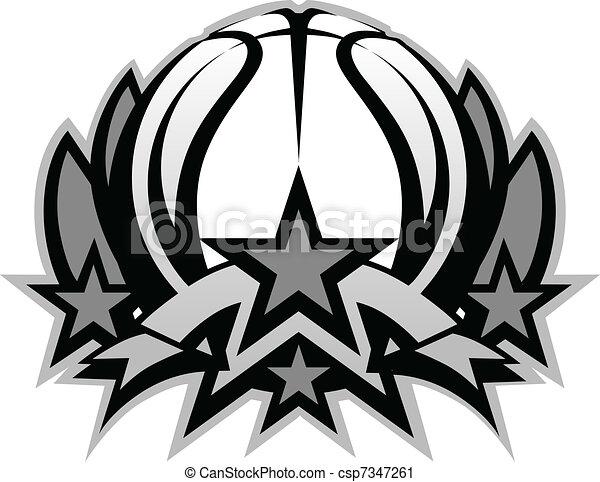 Basketball Ball Vector Graphic Temp - csp7347261