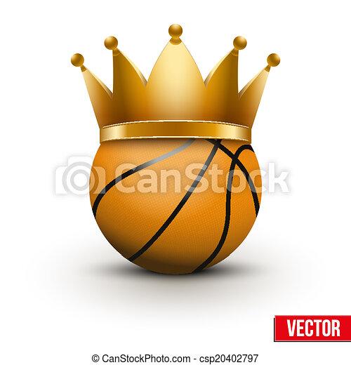Basketball ball with royal crown - csp20402797