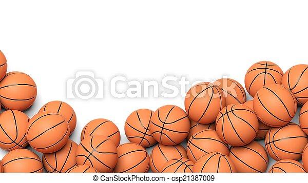 Basketball balls isolated on white background  - csp21387009
