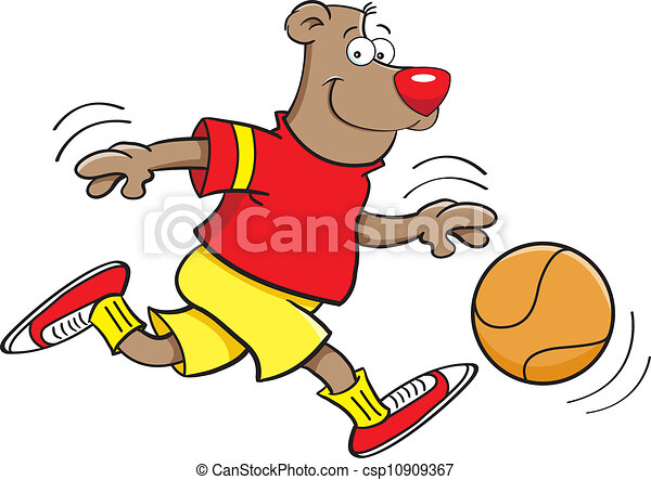 Basketball bear - csp10909367