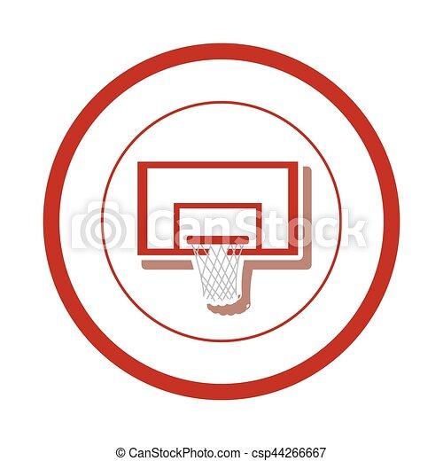 Basketball Board Sport Icon Vector Illustration Graphic Design