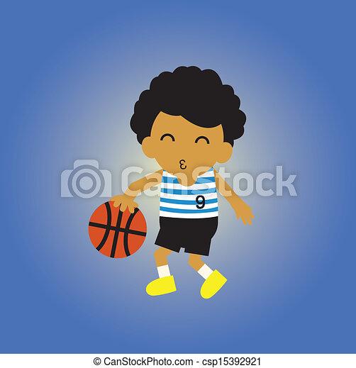 basketball cartoon - csp15392921